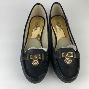 Michael Kors Hamilton Lock Quilted Leather Flats 9